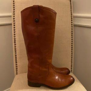 Frye Melissa Button Cognac Riding Boots 8.5